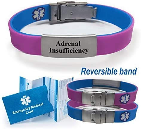 Sport Slim Reversible Medical Alert ID Bracelet