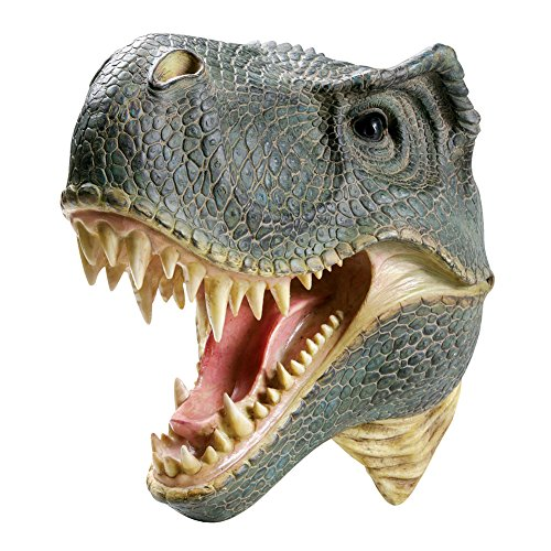 What On Earth T-Rex Tyrannosaures Rex Wall Mounted Sculpture - 3D Lifelike Look for Kids Rooms and Fun Spaces