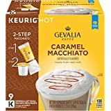 GEVALIA Caramel Macchiato, K-CUP Pods and Froth Packets, 9 Count