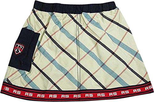 (Regatta - Little Girls Plaid Twill Skirt, Cream, Red, Navy 6701-4T)