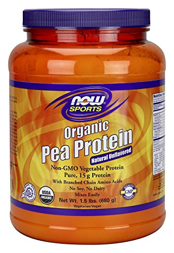NOW Sports Organic Pea Protein Powder, 1.5 Pound