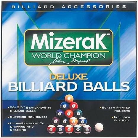 Mizerak P0512 Deluxe – Juego de bolas de billar: Amazon.es: Deportes y aire libre