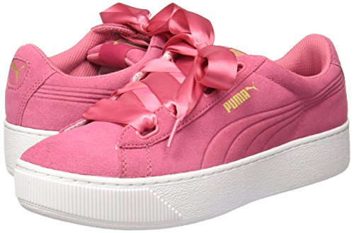 Rose Pink Sneakers Ribbon Adulte Unisexe Puma Vikky YZqBB4