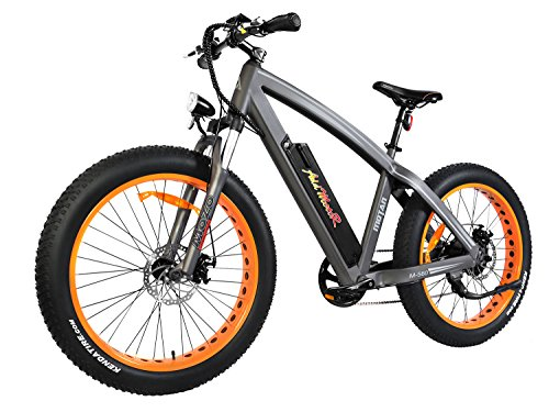Addmotor MOTAN Electric Bike Mountain 26 inch Fat Tire Electric Power Bicycle With Removable 48V 10.4AH Lithium Battery M-560 E-bike (Orange)