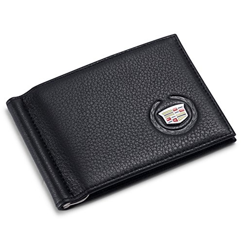 Tuoco Cadillac Bifold Money Clip Wallet with 6 Credit Card Slots - Genuine Leather
