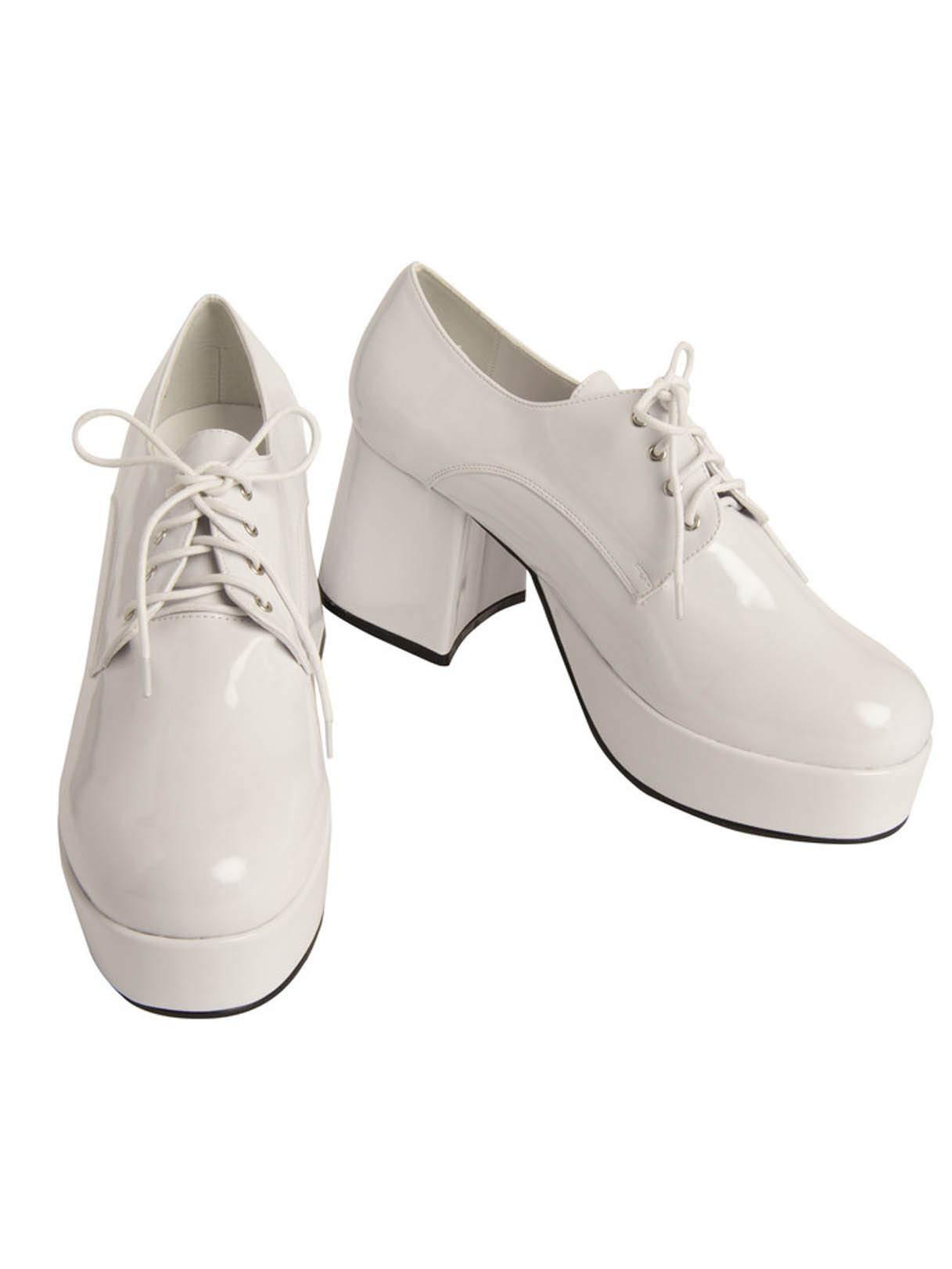 Mens Pimp Platform White Shoes (12/13)