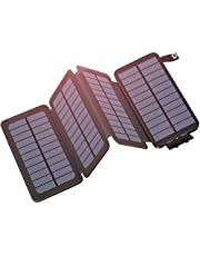 Hiluckey Caricabatterie Solare Portatile Power Bank