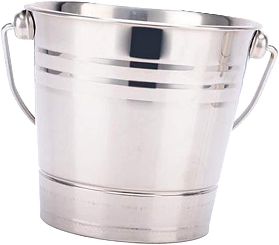 joyMerit Stainless Steel Ice Buckets Beverage Tub - Party Drink Holder - Outdoor or Indoor Use - Free Standing - 2.5L