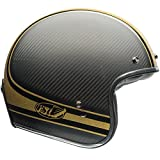 Bell Custom 500 Carbon Open Face Motorcycle Helmet (RSD Bomb Black/Gold, Medium) (Non-Current Graphic)