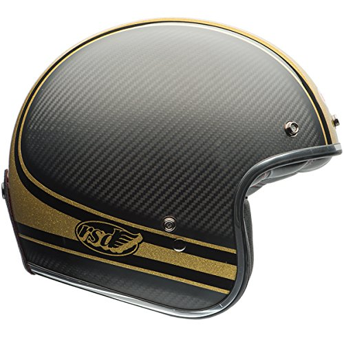 Bell Custom 500 Unisex-Adult Open face Street Helmet (Rsd Bomb Black/Gold, X-Large) (D.O.T.-Certified) by Bell