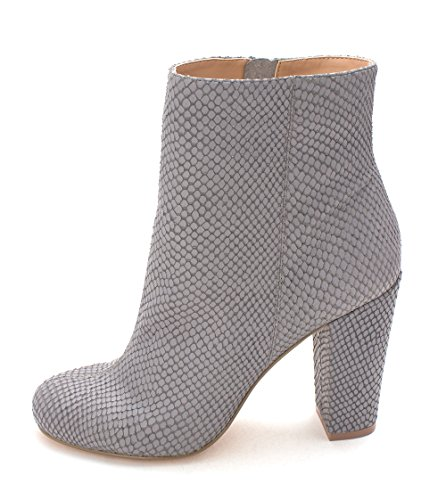 Stngrey Charles Round Charles Snk Womens Mid Emb Boots Toe David Fashion Lowell Leather by Calf rxXqP7r