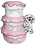 Create-A-Gift Girl Dalmatian Baby Cake, Pink/Black/White