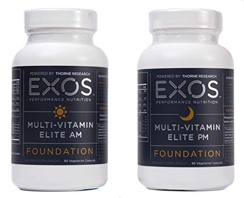 EXOS Performance Nutrition - multi-vitamines Elite - NSF certifié pour Sport® - 180 Capsules végétariennes