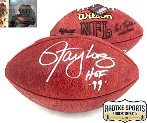 Lawrence Taylor Autographed/Signed New York Giants Authentic Football with