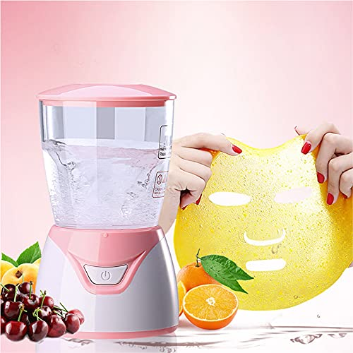Facial Treatment Machine Natural Collagen Fruit Vegetable DIY Face Maker Machine Facial Skin Care, Beauty Facial SPA (Pink)