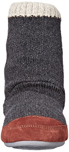 Acorn Men's Slouch Boot Slipper, Charcoal Ragg Wool, Medium/9-10 B US by Acorn (Image #4)