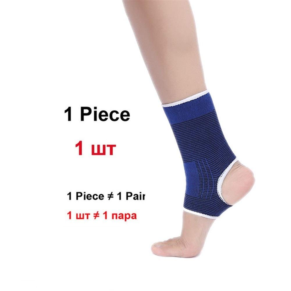 1 Pcs Sport Knee Support Elbow Protect Hug Breathable Kneepads Relieve Arthritis Injury Bandage Knee Guard Blue Color : Blue Ankle