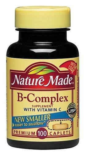 Nature Made B-Complex avec de la vitamine C, 100 Caplets (Pack de 3)