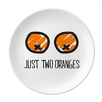 Just Oranges Funny Drawing Orange Decorative Porcelain Dessert Plate 8 inch Dinner Home Gift  sc 1 st  Amazon.com & Amazon.com   Just Oranges Funny Drawing Orange Decorative Porcelain ...