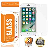 OpenTech Apple iPhone 7 Plus Tempered Glass Screen Protector with Installation kit (2.5 D and Full Transparent)