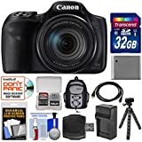 Canon PowerShot SX540 HS Wi-Fi Digital Camera with 32GB Card + Backpack + Battery & Charger + Flex Tripod + Kit