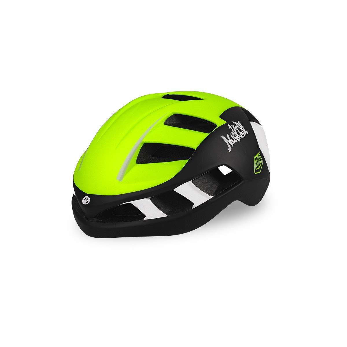 8hawoenju Bike Helmet with in-Molded Reinforcing Skeleton for Added Protection - Adult Size, Comfortable, Lightweight, Breathable (Color : Light Green, Size : L)