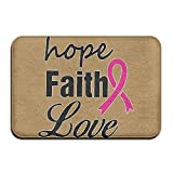 EWD8EQ Hope Faith Love Non-slip Indoor/Outdoor Door Mat Rug For Health And Wellness Toilet Bathroom Doormat 23.6''x 15.7''