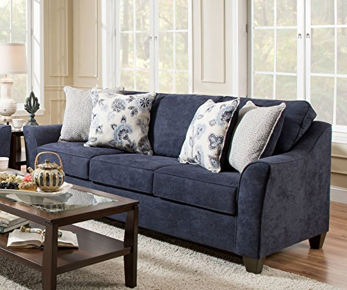 Simmons Upholstery 4330-03 Prelude Navy Sofa