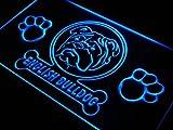 ADV PRO j957-b English Bulldog Paw Print Dog Neon Light Sign