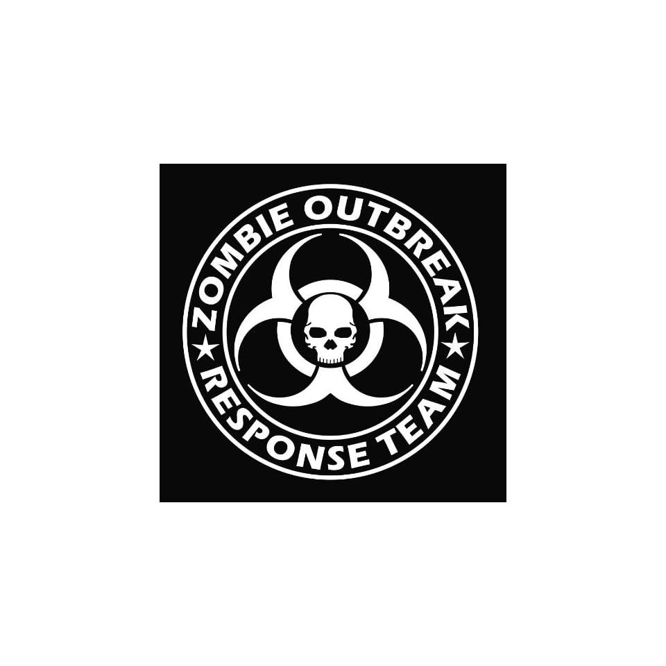 Large Zombie Outbreak Response Team Vinyl Decal Sticker