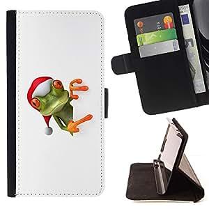 For Apple (5.5 inches!!!) iPhone 6+ Plus / 6S+ Plus Case , Ayudante del duende de Navidad de invierno- la tarjeta de Crédito Slots PU Funda de cuero Monedero caso cubierta de piel