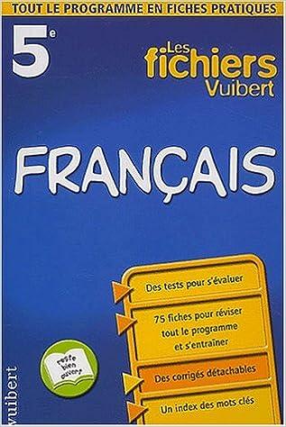 En ligne Les fichiers Vuibert : Français, 5e pdf, epub ebook
