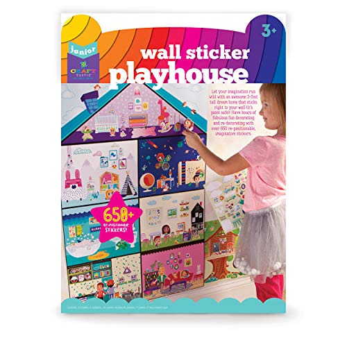 - Craft-tastic Jr – Wall Sticker Playhouse – 3-Foot Tall Dreamhouse with Over 650 Reusable Stickers