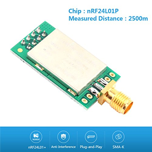 WHDTS 2.4GHz E01-ML01DP5 Transceiver 22dBm nRF24L01P+PA+LNA Wireless Transmission Module 100mW 2500M Measured Distance with Antenna by WHDTS (Image #1)
