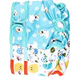 #7: Wegreeco Luxury Washable Reusable Dog Diapers(New Pattern) - Durable Female Dog Diapers, Stylish Doggie Diapers, 3 PACK( Inspiring,Small)