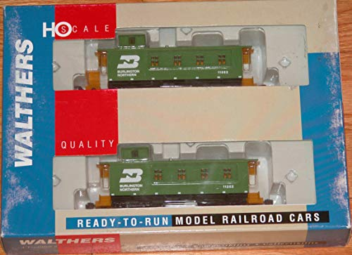 Burlington Caboose Northern - WALTHERS 932-27563 30' 4 Window Caboose (CB&Q Style) 2-Pack Burlington Northern