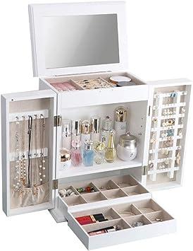 Organizador de Maquillaje Joyas de Madera Estuche de Almacenamiento de Cosméticos Conjuntos de Exhibición con Cajones Cosméticos Lápices Labiales Maquillaje Organizador Caja de Alta Capacidad: Amazon.es: Bricolaje y herramientas