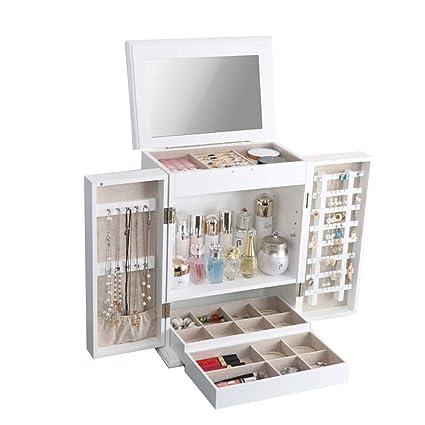 Organizador de Maquillaje Joyas de Madera Estuche de ...
