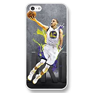 UniqueBox - Customized Personalized White Hard Plastic iPhone 5C Case, NBA Golden State Warriors Superstar Stephen Curry iPhone 5C case, Only Fit iPhone 5C Case wangjiang maoyi