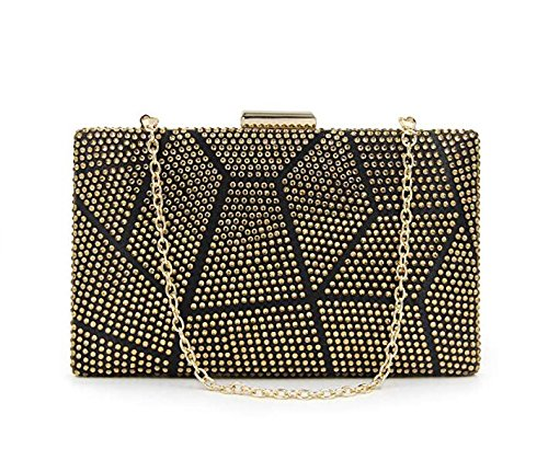 Purses Rhinestone Evening Gold Multicolored Clutch Crystal Women Handbag for Clutch Cocktail GSHGA fgHwq14