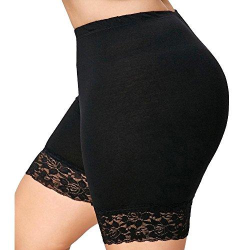 Opeer Elastic Sports Short Shorts Womens Plus Size Mid Waist Lace Hot Shorts Pants Trousers Trunks (2XL, - Marilyn Monroe Shaper Body