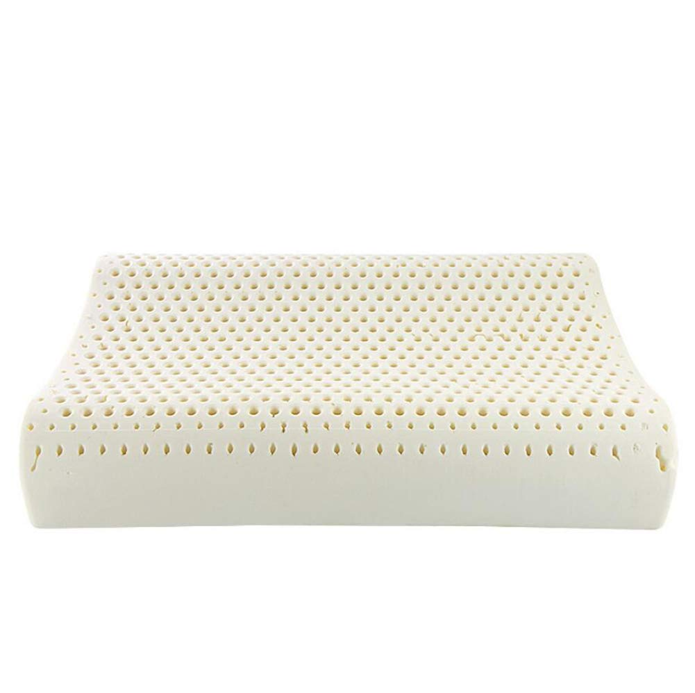 Natural Latex Pillows Cold Foaming Wavy Therapy Cervical Relief Neck Pain Improvement Quality Of Your Sleep Anti-mite Dust Massage Spinal Shoulder Relief Hunchbacked Breathable Cool