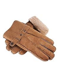 Nordvek Men's Genuine Sheepskin Gloves With Strap Cuff # 307-100 - Large - 10, Light Brown