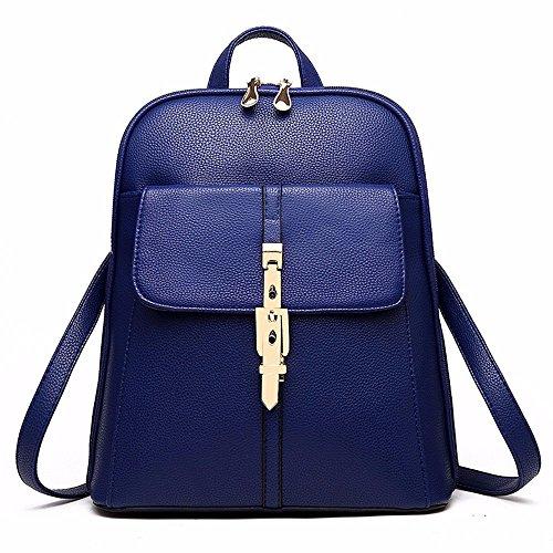 YDIUDIU grande de PU 2018 dos femmes sac boucle Blue en voyage nouveau Sapphire capacité à de arrière sac dos génération cuir à femelle rrAq6