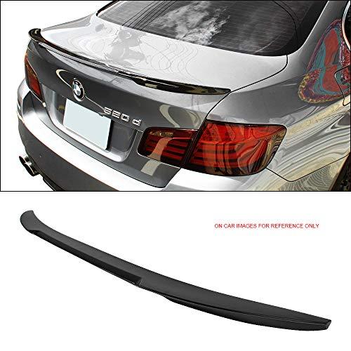 Trunk Spoiler Fits 2011-2016 BMW 5-Series F10 4Dr Sedan | M4 Style Carbon Fiber (CF) Rear Trunk Wing Deck Lid by IKONMOTORSPORTS