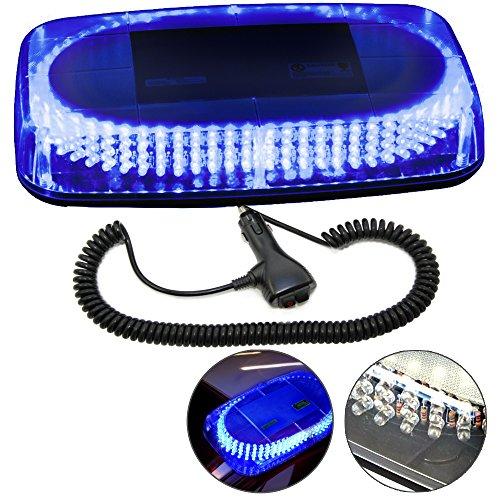 HQRP 240 LED Mini Light Bar Blue Light Hazard Warning / Emergency Strobe Light with Magnetic Base plus HQRP UV (Watt Emergency Light)