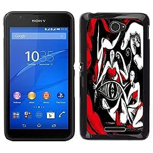 Dragon Case - FOR Sony Xperia E4 - Excellent artistic - Caja protectora de pl??stico duro de la cubierta Dise?¡Ào Slim Fit
