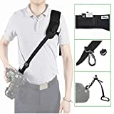 IMORDEN Flash F-1 Neoprene Quick Anti-slip Shoulder Camera Strap Sling for Canon Sony Nikon DSLR Cameras with 1/4'' Screw, Safety Tether and Zipper Pocket, for Men and Petite Women, Farewell Neck Pain