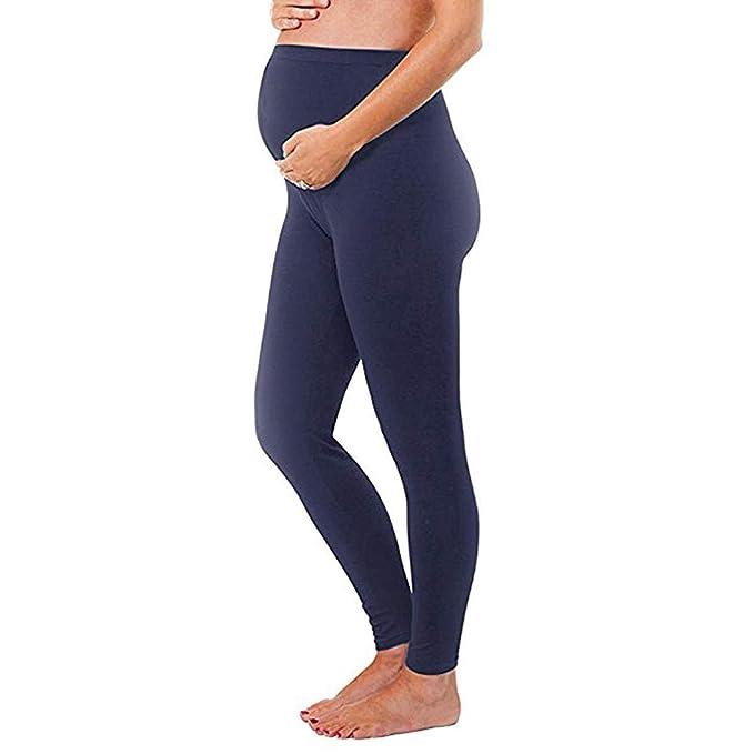 d5aa974f9 Premamá Invierno Leggins Abrigos Mujer Leggings De Maternidad para Mujeres  Pantalones Sin Costuras SóLidos Pantalones EláSticos para El Embarazo   Amazon.es  ...