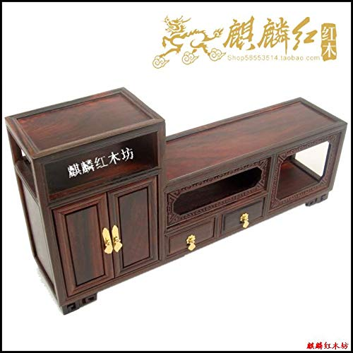 (ZAMTAC Kylin Rosewood Crafts Furniture of Ming and Qing Dynasties Micro Miniature Model of The TV Cabinet Beautiful Gift Boutique furni)